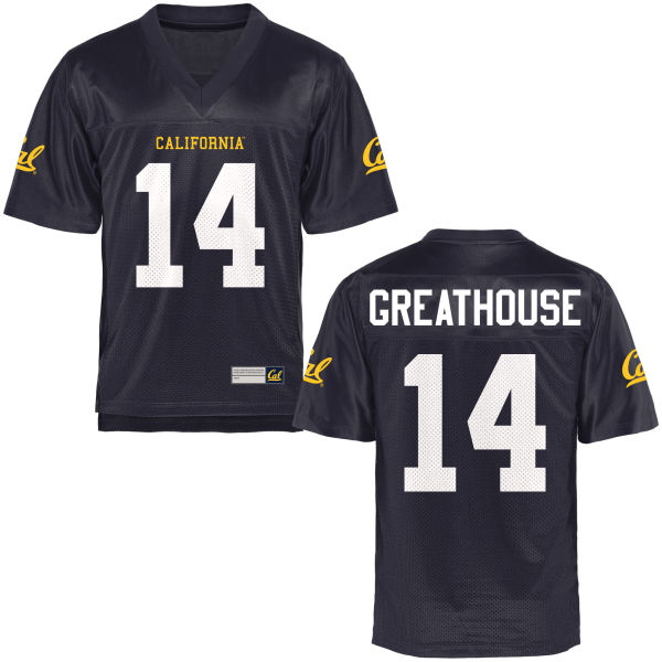 Men's A.J. Greathouse Cal Bears Game Navy Blue Football Jersey