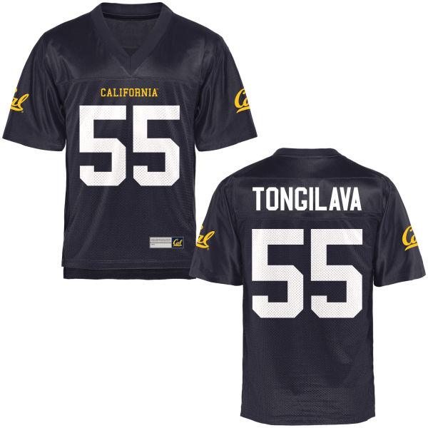 Men's Aisea Tongilava Cal Bears Authentic Navy Blue Football Jersey