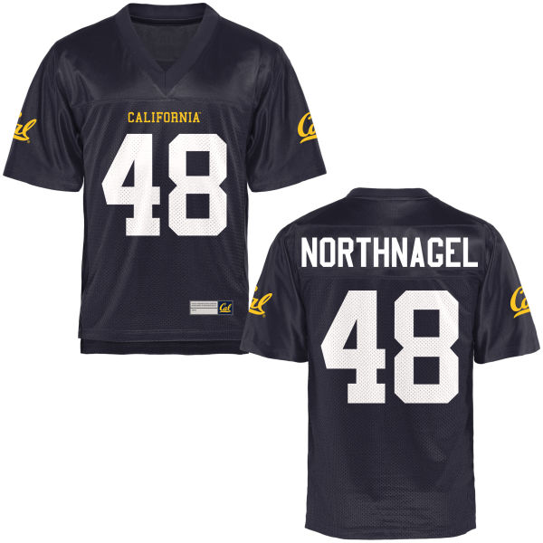 Men's Bradley Northnagel Cal Bears Game Navy Blue Football Jersey