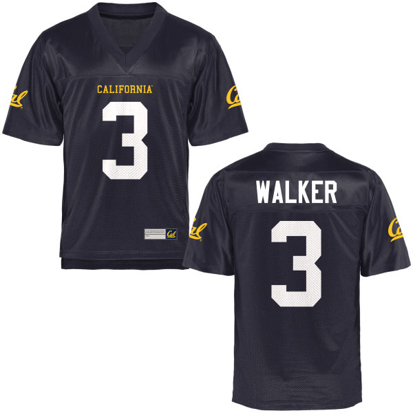 Men's Cameron Walker Cal Bears Replica Navy Blue Football Jersey