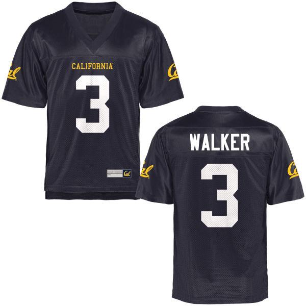 Men's Cameron Walker Cal Bears Authentic Navy Blue Football Jersey