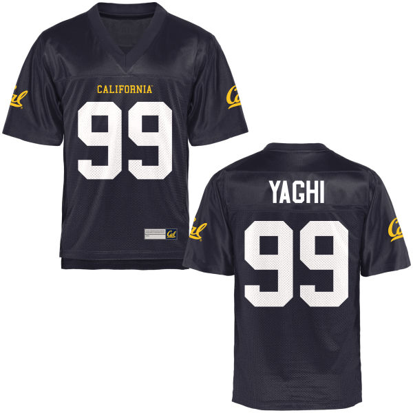 Men's Chris Yaghi Cal Bears Game Navy Blue Football Jersey