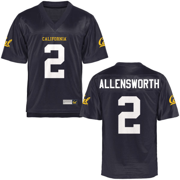 Youth Darius Allensworth Cal Bears Game Navy Blue Football Jersey