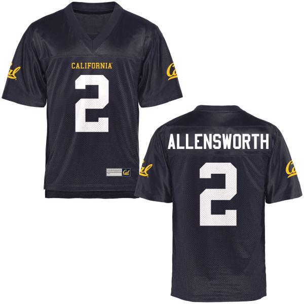 Women's Darius Allensworth Cal Bears Authentic Navy Blue Football Jersey