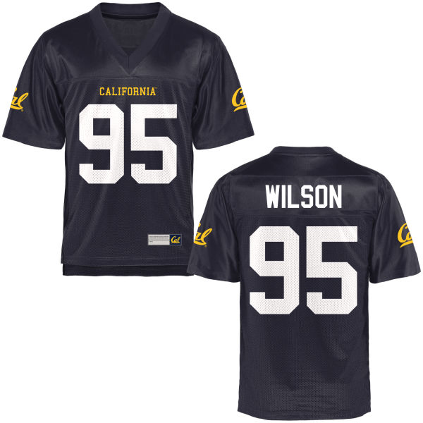 Men's DeVante Wilson Cal Bears Authentic Navy Blue Football Jersey