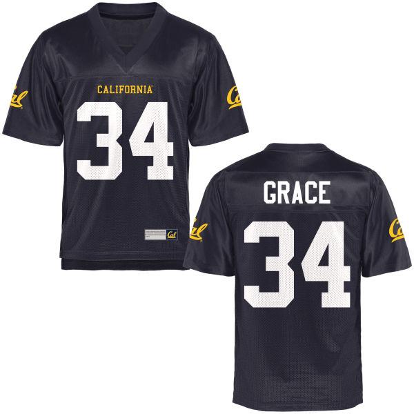 Youth De'Zhon Grace Cal Bears Authentic Navy Blue Football Jersey