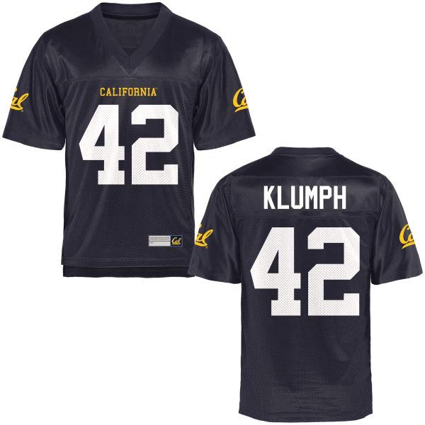 Men's Dylan Klumph Cal Bears Replica Navy Blue Football Jersey