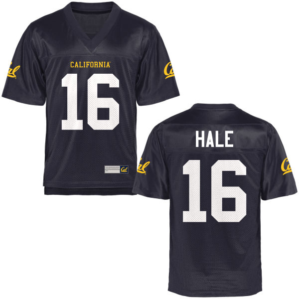 Men's Fabiano Hale Cal Bears Authentic Navy Blue Football Jersey