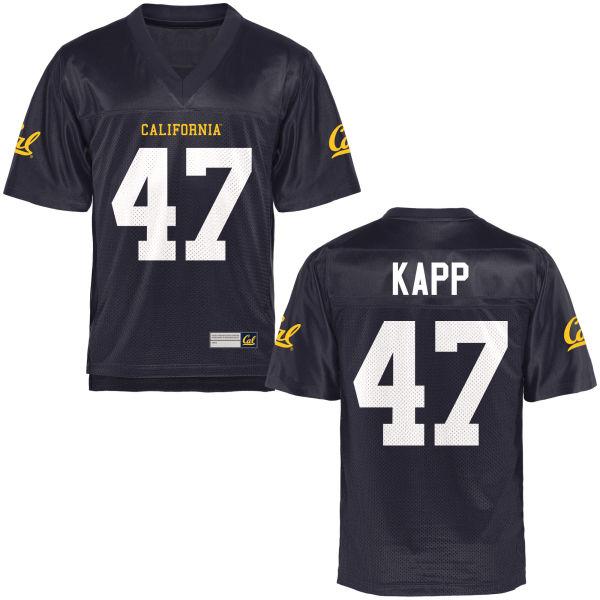 Men's Frank Kapp Cal Bears Game Navy Blue Football Jersey