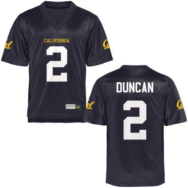 Men's Jordan Duncan Cal Bears Authentic Navy Blue Football Jersey