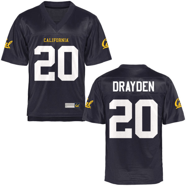 Men's Josh Drayden Cal Bears Game Navy Blue Football Jersey