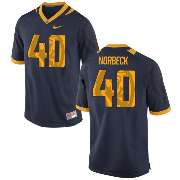 Men's Nike Justin Norbeck Cal Bears Authentic Navy Football Jersey