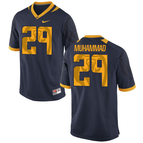 Men's Nike Khalfani Muhammad Cal Bears Replica Navy Football Jersey