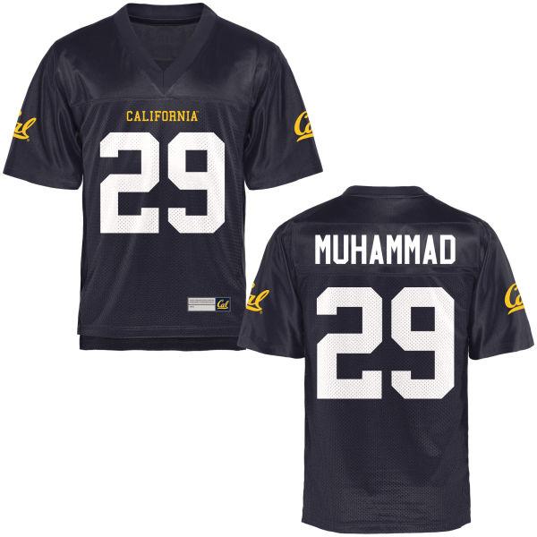 Men's Khalfani Muhammad Cal Bears Authentic Navy Blue Football Jersey