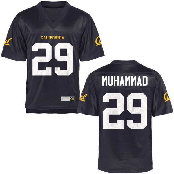 Men's Khalfani Muhammad Cal Bears Limited Navy Blue Football Jersey