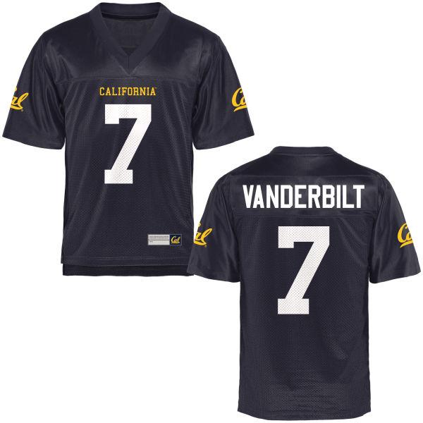Men's Khari Vanderbilt Cal Bears Game Navy Blue Football Jersey