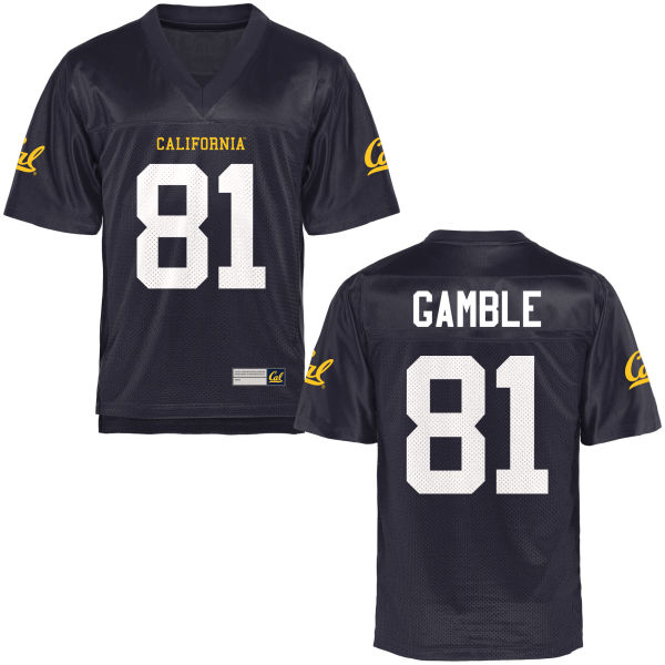 Men's Logan Gamble Cal Bears Authentic Navy Blue Football Jersey