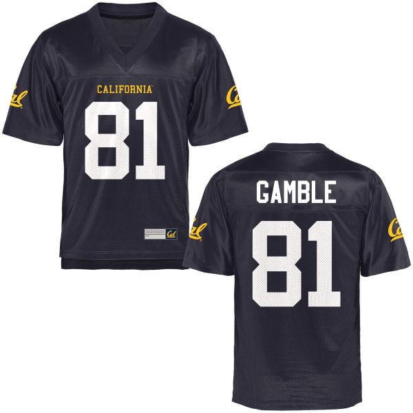 Men's Logan Gamble Cal Bears Authentic Navy Blue Football Jersey