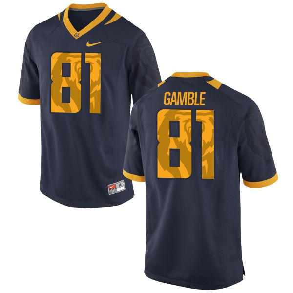 Men's Nike Logan Gamble Cal Bears Authentic Navy Football Jersey