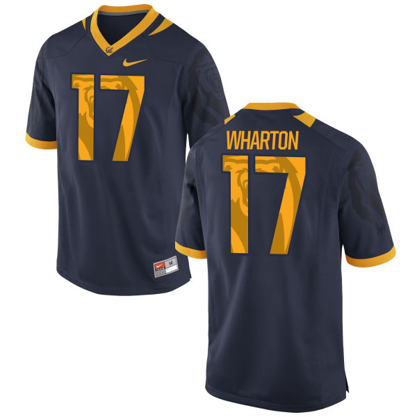 Men's Nike Vic Wharton III Cal Bears Authentic Navy Football Jersey