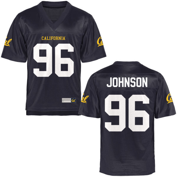 Men's Vincent Johnson Cal Bears Authentic Navy Blue Football Jersey
