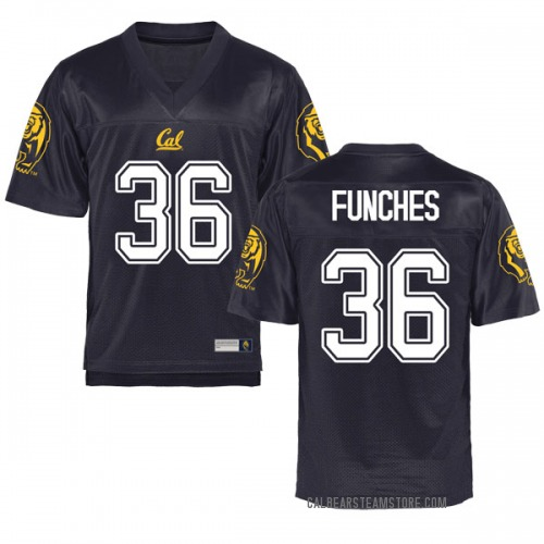 Men's Alex Funches Cal Bears Replica Navy Football College Jersey