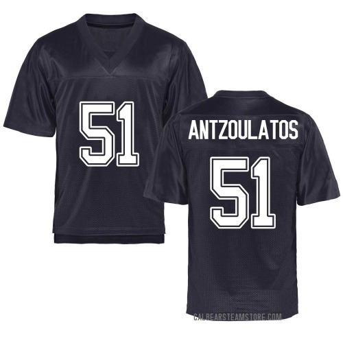 Men's Blake Antzoulatos California Golden Bears Game Gold Navy Football College Jersey
