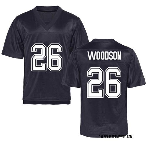 Men's Craig Woodson California Golden Bears Replica Gold Navy Football College Jersey