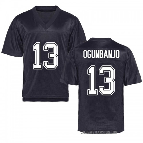 Men's Joseph Ogunbanjo California Golden Bears Game Gold Navy Football College Jersey
