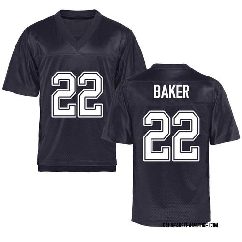 Men's Justin Baker California Golden Bears Replica Gold Navy Football College Jersey