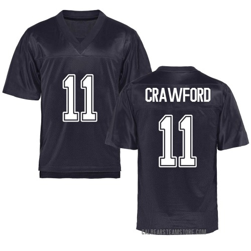 Men's Kekoa Crawford California Golden Bears Game Gold Navy Football College Jersey