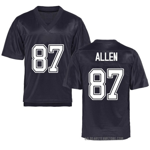 Men's Lucas Allen California Golden Bears Replica Gold Navy Football College Jersey