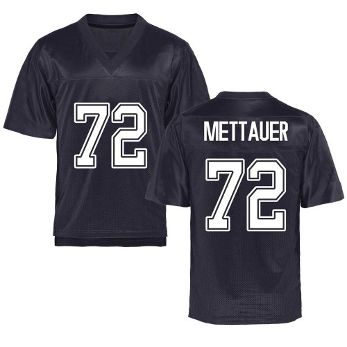 Men's McKade Mettauer California Golden Bears Game Gold Custom Navy Football College Jersey