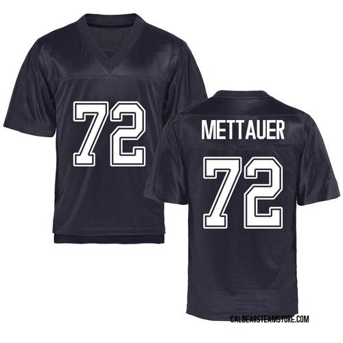 Men's McKade Mettauer California Golden Bears Game Gold Navy Football College Jersey