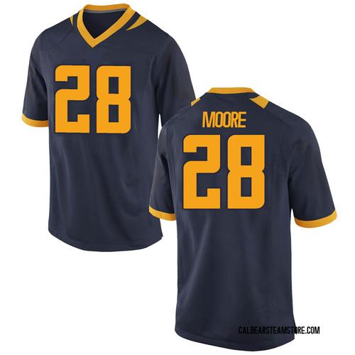Men's Nike Damien Moore California Golden Bears Game Gold Navy Football College Jersey