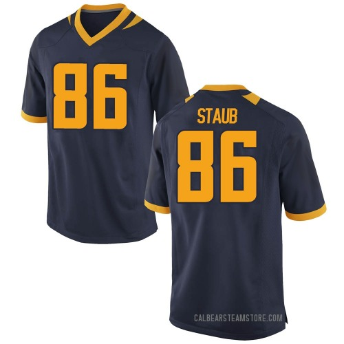 Men's Nike Jared Staub California Golden Bears Game Gold Navy Football College Jersey