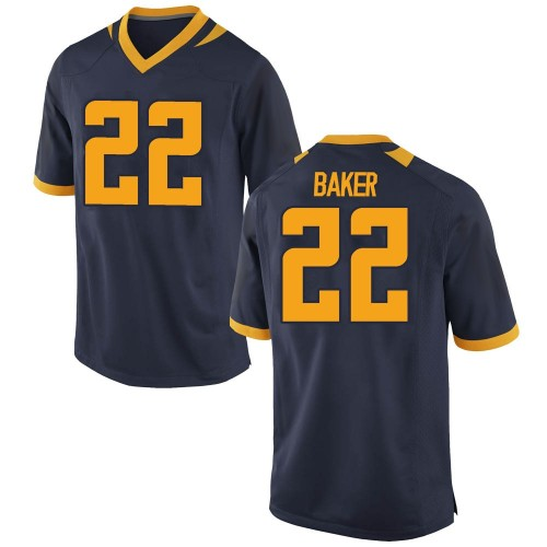 Men's Nike Justin Baker California Golden Bears Game Gold Navy Football College Jersey