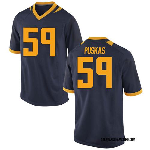 Men's Nike Ryan Puskas California Golden Bears Game Gold Navy Football College Jersey