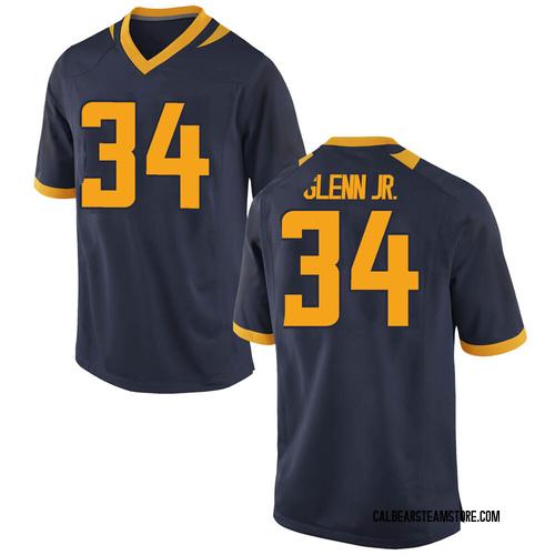 Men's Nike Tarik Glenn Jr. California Golden Bears Game Gold Navy Football College Jersey