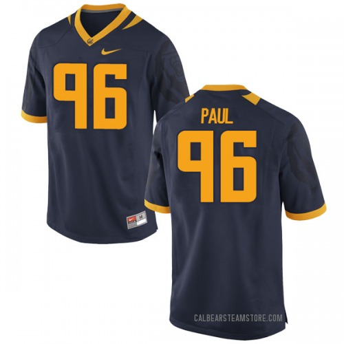 Men's Tevin Paul California Golden Bears Game Gold Navy Football College Jersey
