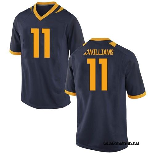 Men's Nike Tyson Mcwilliams California Golden Bears Game Gold Navy Football College Jersey