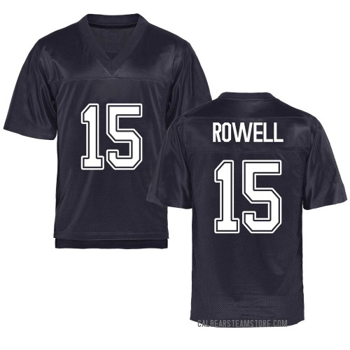 Men's Robby Rowell California Golden Bears Game Gold Navy Football College Jersey