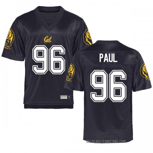 Men's Tevin Paul Cal Bears Game Navy Football College Jersey