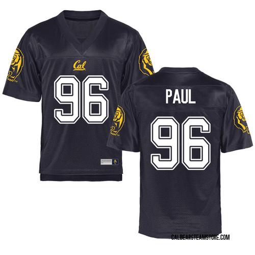 Men's Tevin Paul Cal Bears Replica Navy Football College Jersey
