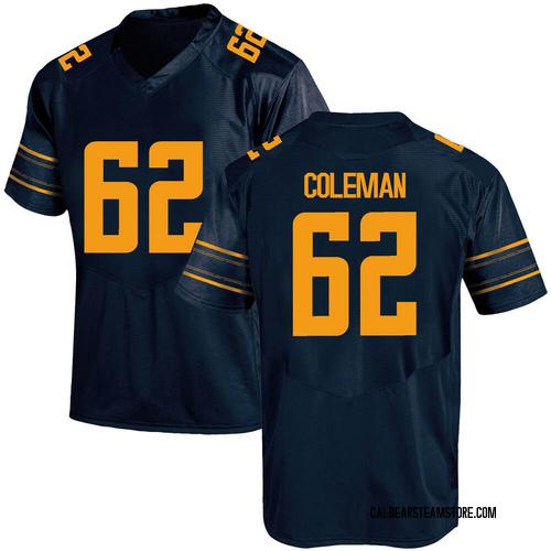 Men's Under Armour Ben Coleman California Golden Bears Game Gold Navy Football College Jersey