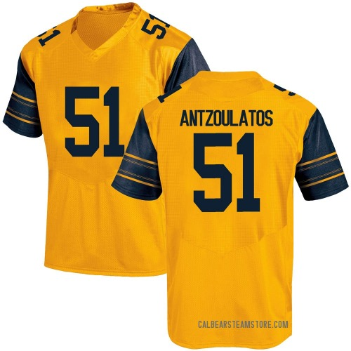 Men's Under Armour Blake Antzoulatos California Golden Bears Game Gold Alternate Football College Jersey