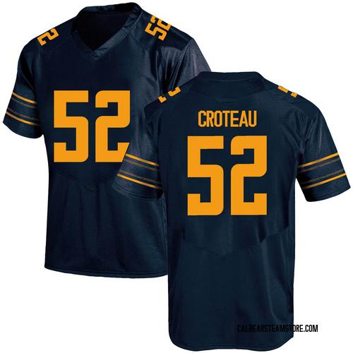 Men's Under Armour Braxten Croteau California Golden Bears Replica Gold Navy Football College Jersey