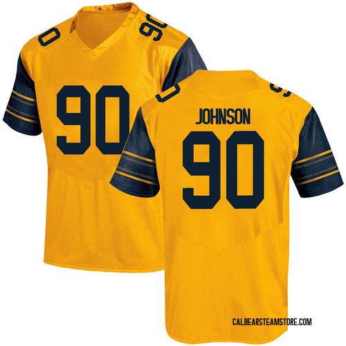 Men's Under Armour Brett Johnson California Golden Bears Replica Gold Alternate Football College Jersey