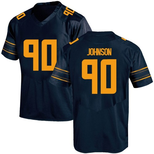 Men's Under Armour Brett Johnson California Golden Bears Replica Gold Navy Football College Jersey