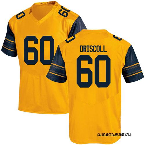 Men's Under Armour Brian Driscoll California Golden Bears Game Gold Alternate Football College Jersey